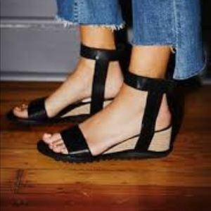 Free People XJeffery Campbell Leather Wedge Sandal